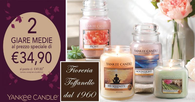 offerta sconti su candele Yankee Candle Vicenza - occasione candele profumate Yankee Vicenza