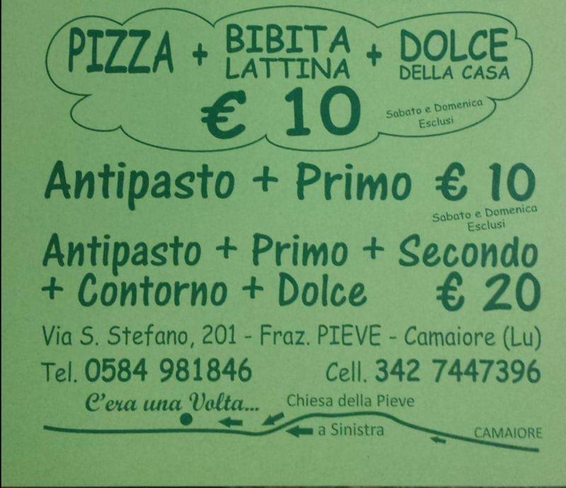 offerta menu venti euro viareggio,camaiore,massarosa