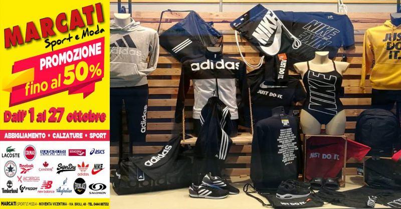offerta sconti abbigliamento sportivo di marca Vivenza - occasione calzature da sport Vicenza