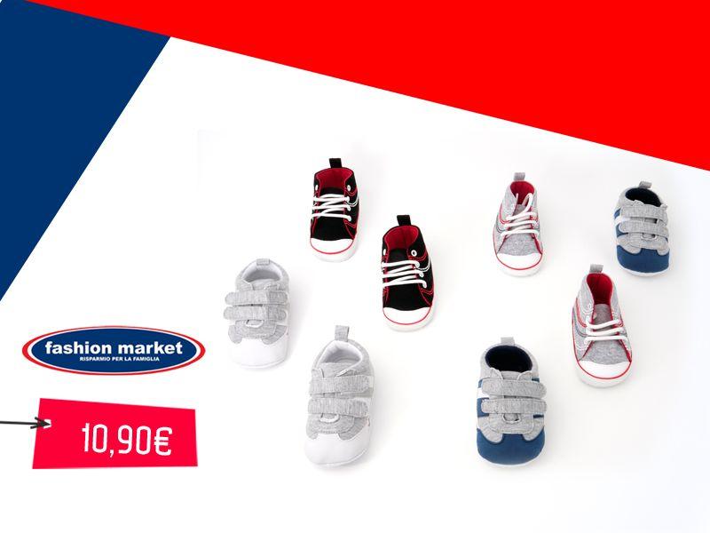 offerta Fashion Market Scarpette Da Neonato - occasione Scarpine per neonato Bebè Primi Passi