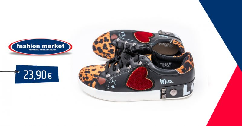 offerta scarpe da ginnastica donna Fashion Market - occasione scarpe sneakers animal Roma