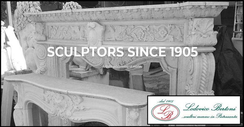 BERTONI LODOVICO & FIGLI - offer realization sale fireplace in crafted marble made in Italy