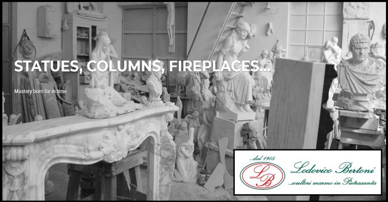 BERTONI LODOVICO & FIGLI - Promotion realization fireplace handmade marble made in Italy