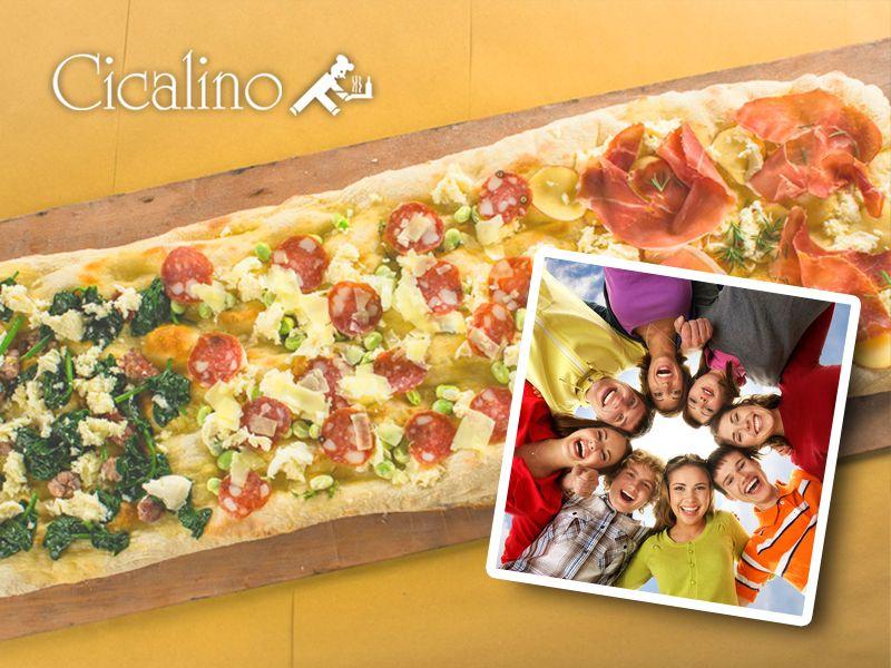 offerta pizza al metro cicalino - pizzeria menu comitiva pizza al metro