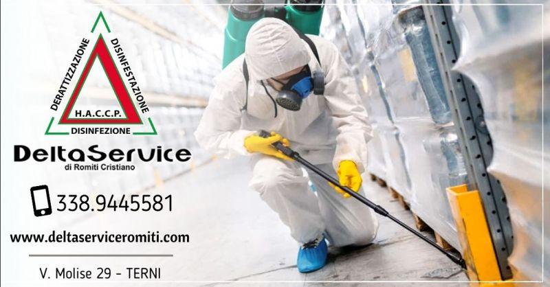 Offerta servizio professionale disinfestazione derattizzazione Terni - Occasione sanificazione ambienti