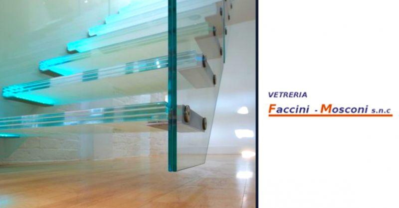 Offerta produzione scale e parapetti in vetro - occasione realizzazione porte in vetro Verona