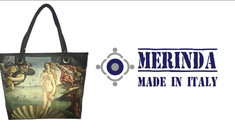 MERINDA occasione vendita online borsa linea arte made in italy Botticelli Nascita di Venere