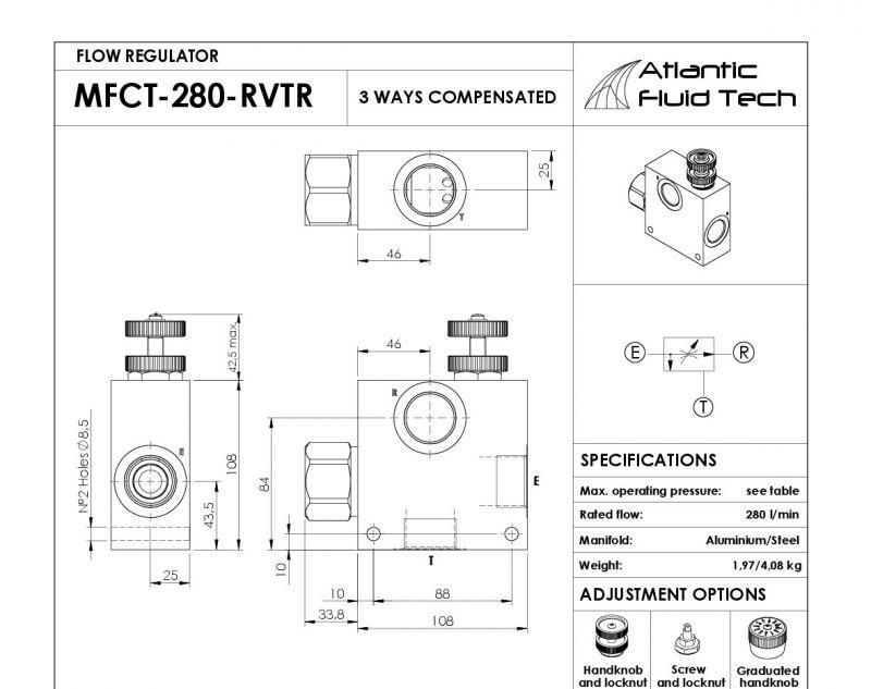 Offerta Atlantic Fluid Tech MF000037 regolatore di flusso