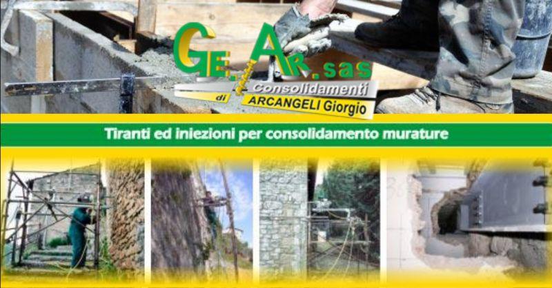 GE.AR.SAS offerta Interventi di consolidamento edifici e terreni Terni