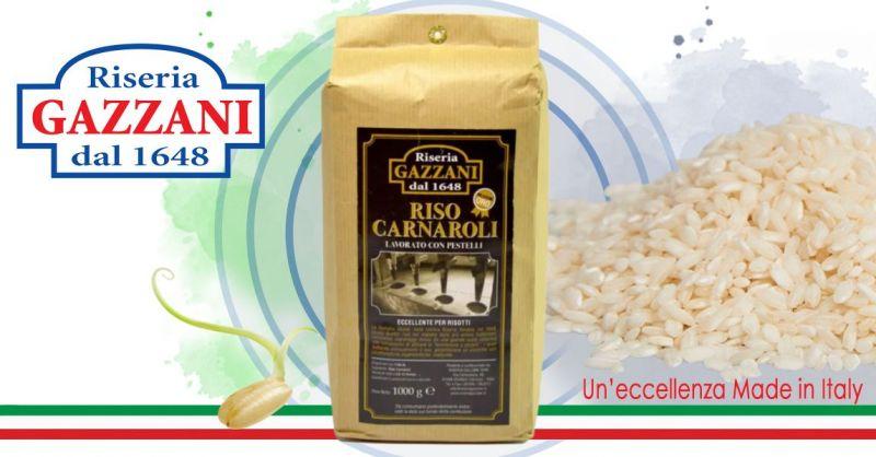 RISERIA GAZZANI 1648 - Offerta vendita online miglior riso Carnaroli italiano artigianale