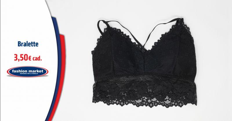 FASHION MARKET Offerta Bralette in pizzo intimo femminile - Occasione lingerie Donna Bralette