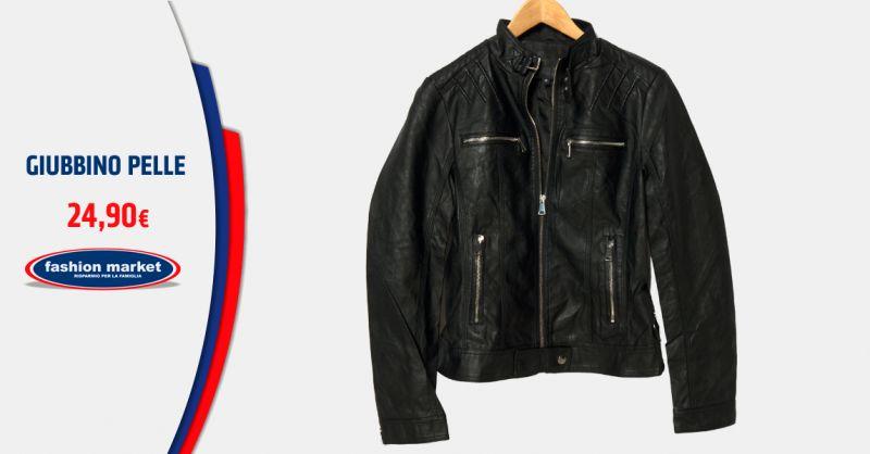FASHION MARKET Offerta giubbotto in pelle biker uomo - Occasione giacca pelle uomo vintage