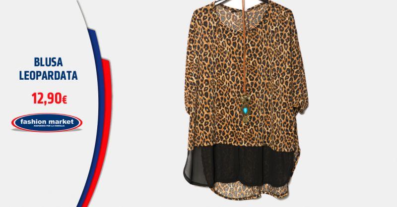FASHION MARKET Offerta Camicia Donna Leopardata - Occasione Blusa Leopardata femminile