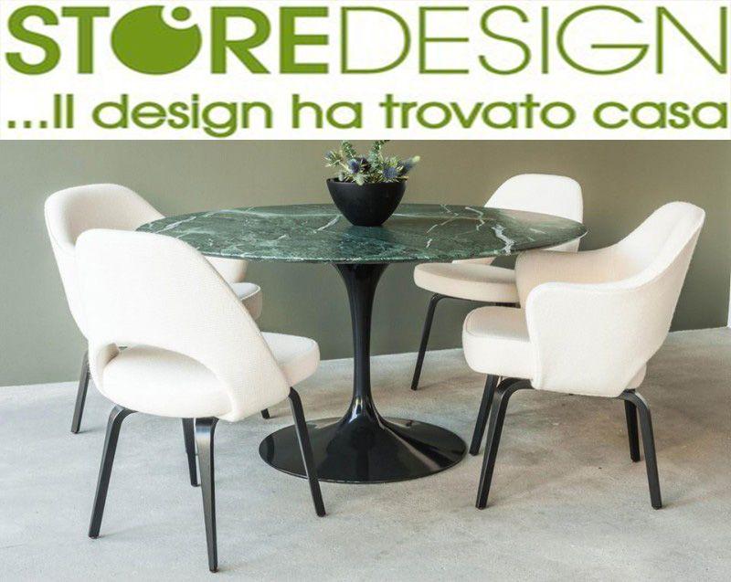 Promozione Tavolo Saarinen in Marmo Verde Alpi Made in Italy - Tulip Verde Alpi made in Italy