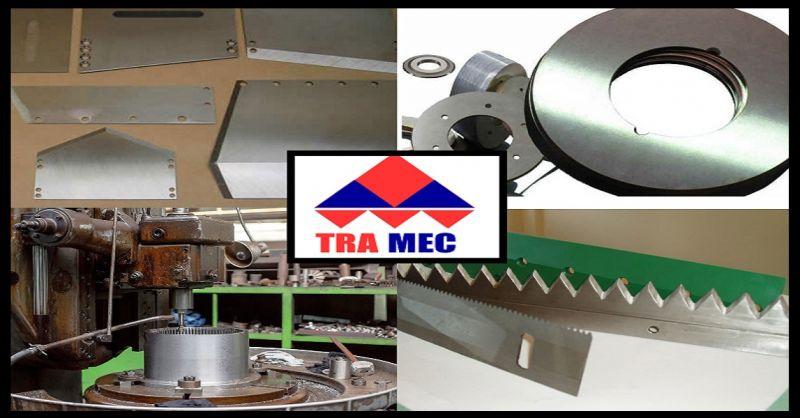 TRA.MEC offerta costruzione affilatura e rettifica di coltelli e lame industriali Italia
