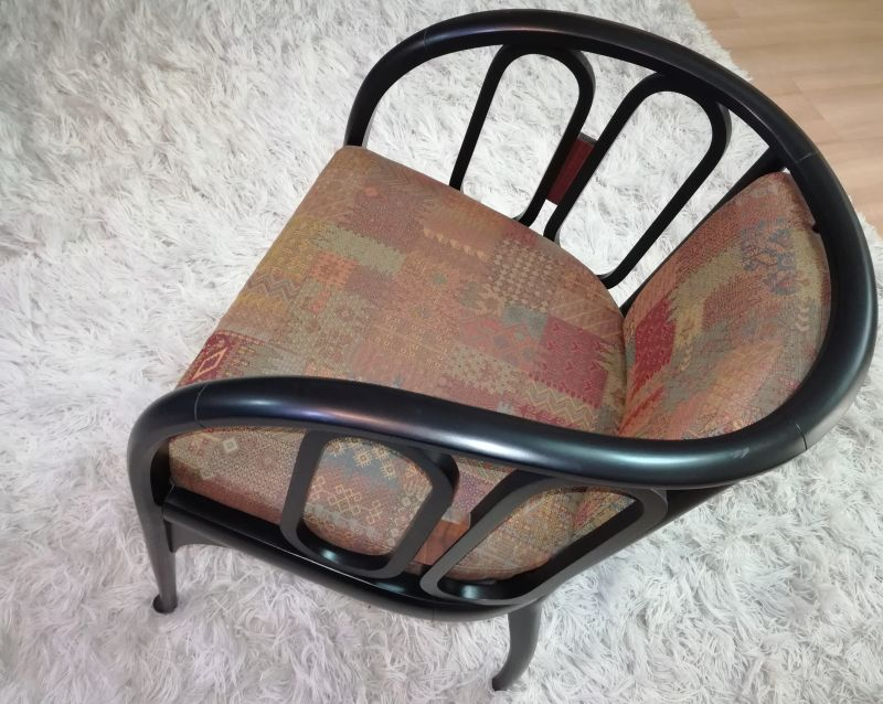 Exceptional offering number four small armchairs