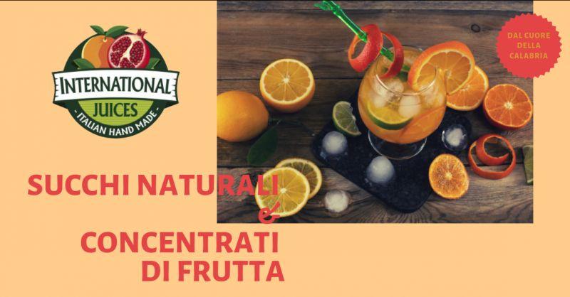 International Juices offerta succo di frutta calabrese - promozione preparati frutta calabresi