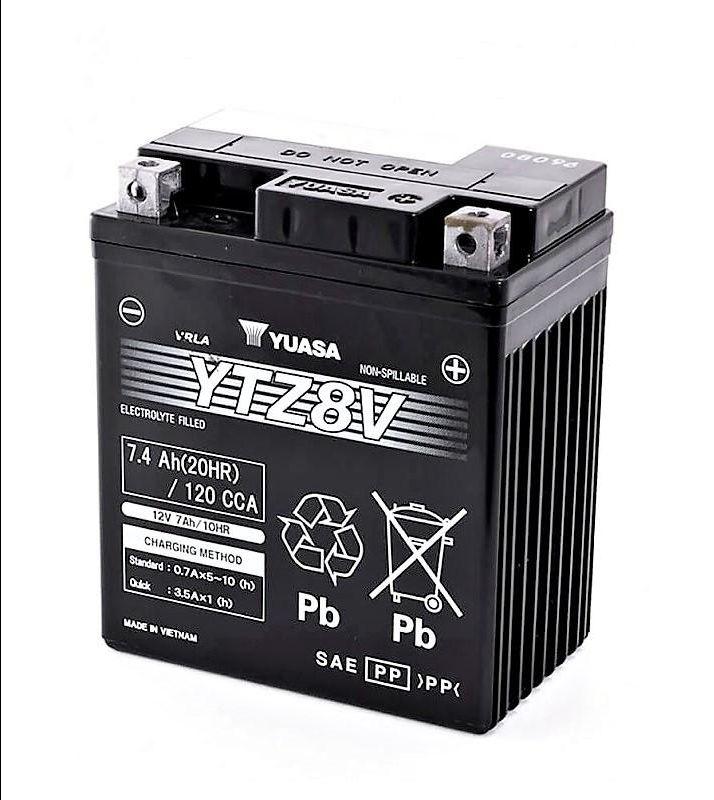 offerta vendita batteria yuasa ytz8 v 12v 7,4 ah cca120a - occasione vendita batteria moto