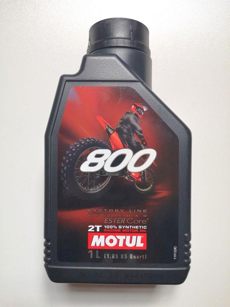 Offerta olio miscela MOTUL 800 2 tempi off road - occasione vendita accessori moto