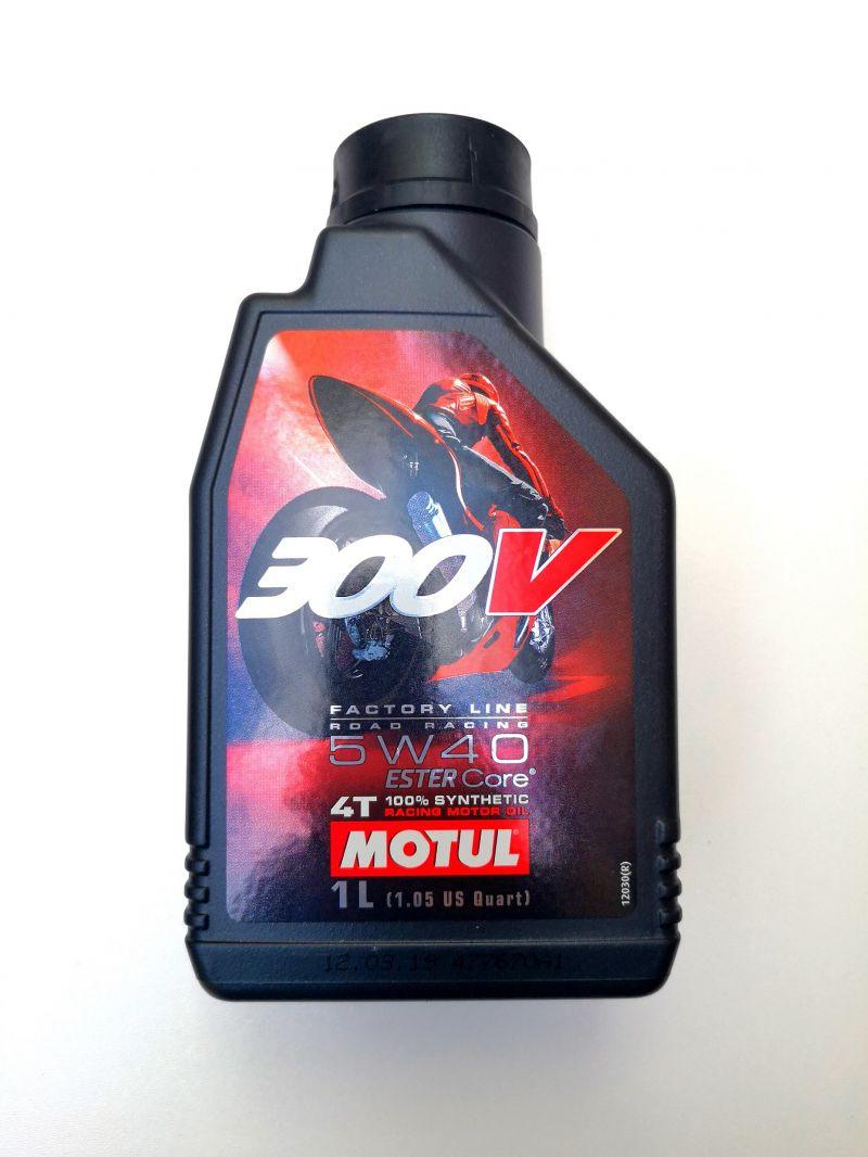 OLIO MOTORE per MOTO e MAXISCOOTER 4 TEMPI MOTUL 300V ROAD RACING - 100% SINTETICO - SAE 5W40