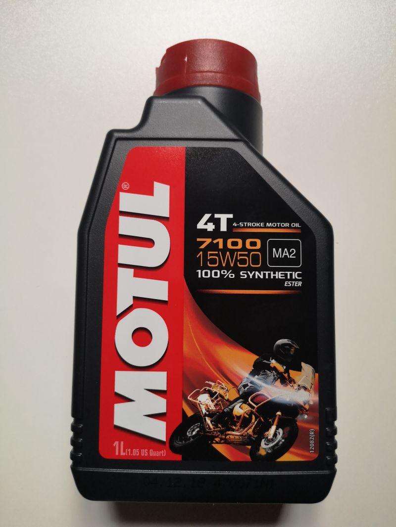 OLIO MOTORE MOTUL 7100 per MOTO e SCOOTER 4 TEMPI - 100% SINTETICO  SAE 15W50