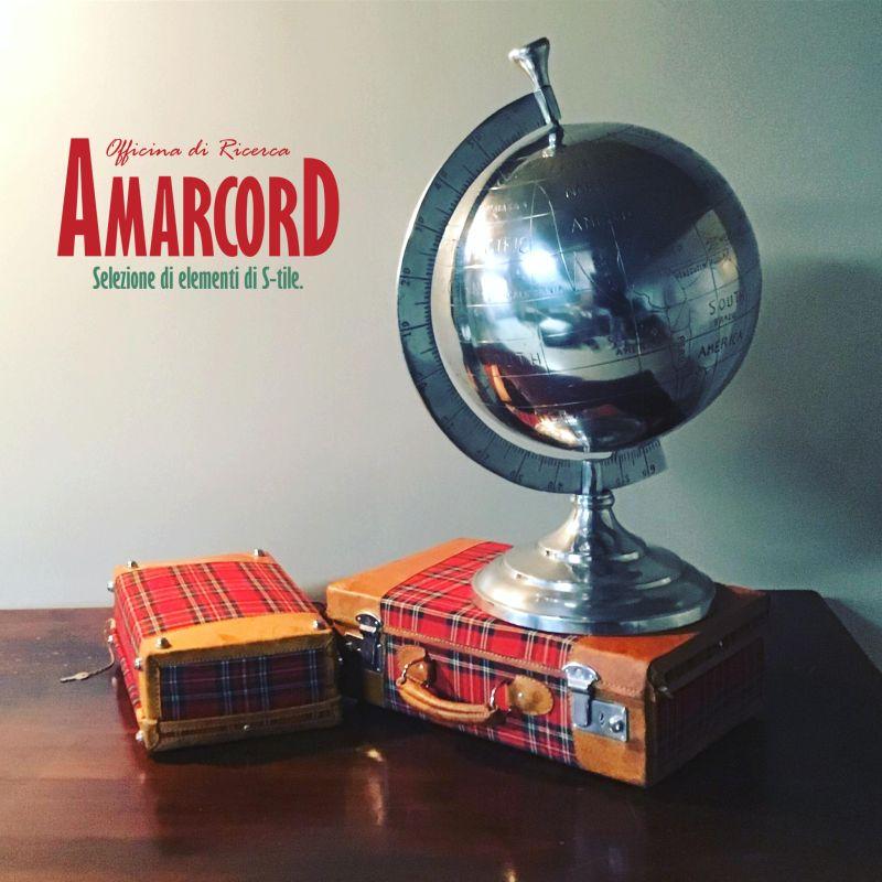 AMARCORD offerta globo vintage in alluminio - promozione complementi arredo anni 70 unici