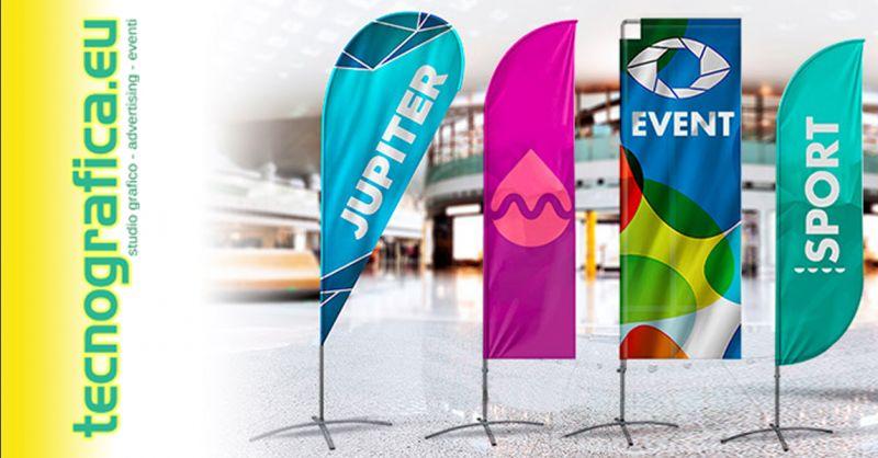 Offerta realizzazione cartelli pubblicitari  - occasione bandiere pubblicitarie personalizzate