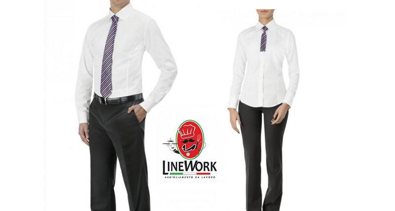 Line work offerta pantalone nero da lavoro - occasione camicia bianca da lavoro Napoli