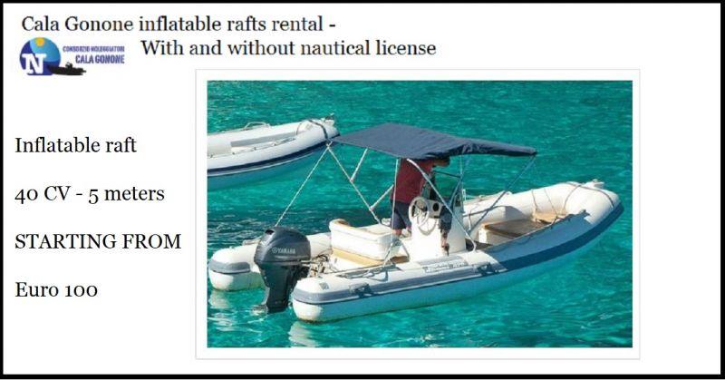 Consorzio Noleggiatori Cala Gonone Inflatable raft 40 CV 5 meters -Cala Gonone inflatable rafts