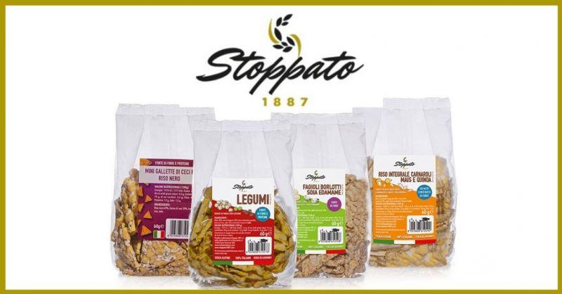Stoppato 1887 - Offerta vendita online CHIPS di legumi con riso nero ceci edamame mais e quinoa