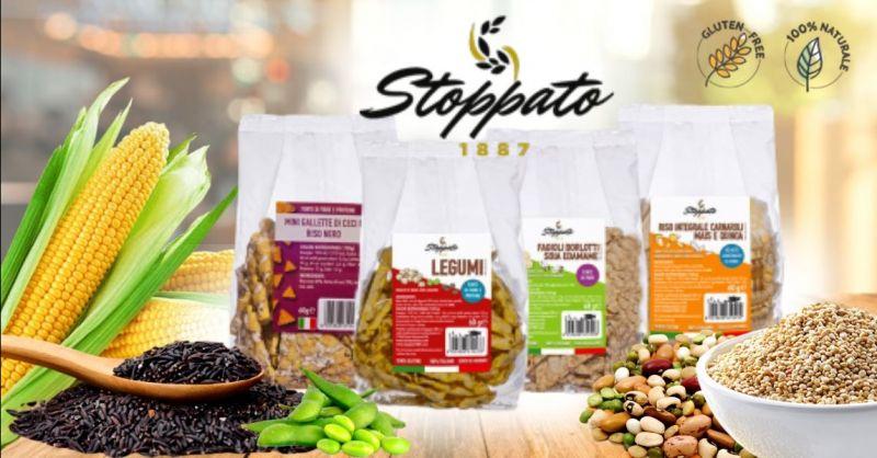 STOPPATO 1887 - Offerta vendita online snack gallette sostitutivi del pane ai legumi senza glutine