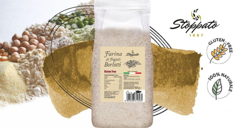 Offerta Vendita online farina di fagioli Borlotti coltivati in Italia - Occasione Farine di produzione Italiana