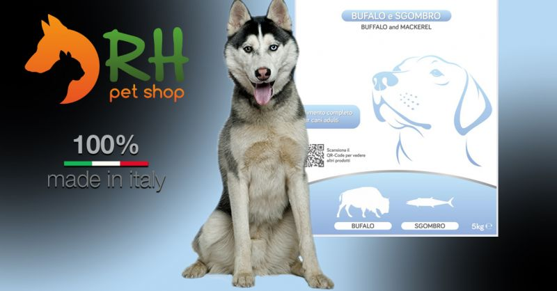 Offerta Crocchette Bufalo e Sgombro Grain Free - Occasione Crocchette di medie dimensioni adatti per cani di tutte le taglie