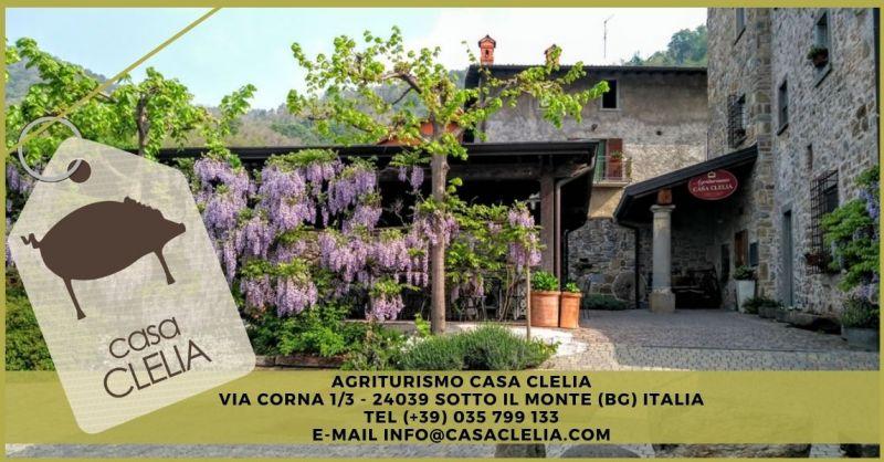 AGRITURISMO CASA CLELIA - Offerta pernottamento B&B Hotel località Monte Canto Bergamo Lombardia