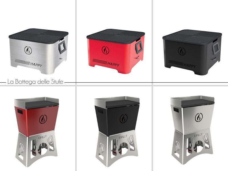 Offerta vendita e distribuzione barbecue a pellet trasportabili  - La Bottega delle Stufe