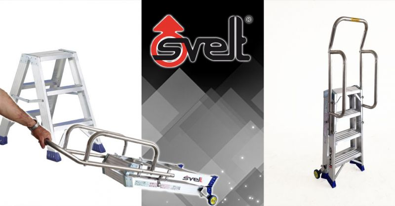 Offerta Sgabello professionale pieghevole in alluminio Bergamo - Occasione Scala a forbice professionale