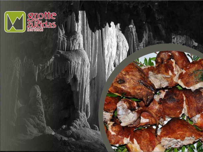 promozione maialetto sardo - offerta dove mangiare santadi - grotte is zuddas santadi
